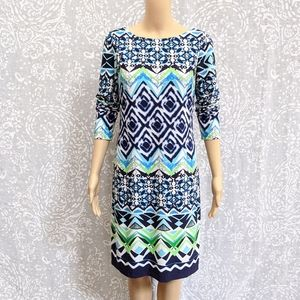 Vince Camuto Long Sleeve Shift Dress